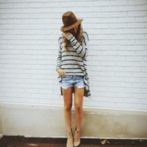 Free People | Striped Boyfriend Tunic Sweater